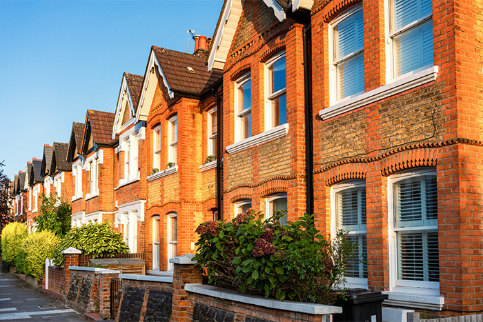 West London terraced houses